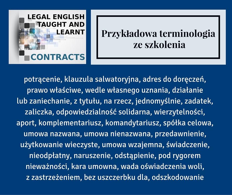 Terminologia ze szkolenia